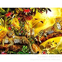 1000ピース ジグソーパズル木製プレプリントパターンヒョウジグソーパズル 1000ピース 絵画 大人 子 向け 木製パズルDIY家の装飾、パズルゲーム、減圧教育ギフト75x50 cm(8歳以上に適しています)