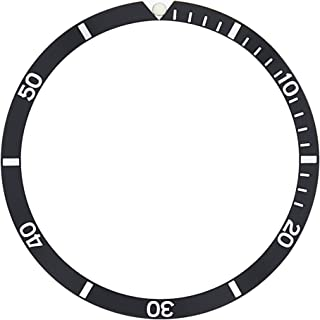 BEZEL INSERT FOR OMEGA SEAMASTER WATCH 120 ref 135.027 WATCH BLACK 36 X 30