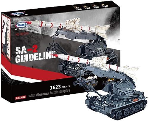 Yyz Military Series SA-2GUIDELINE Kinder Montage Rechtschreibung Puzzle Bausteine  pielzeug Geburtstagsgeschenk