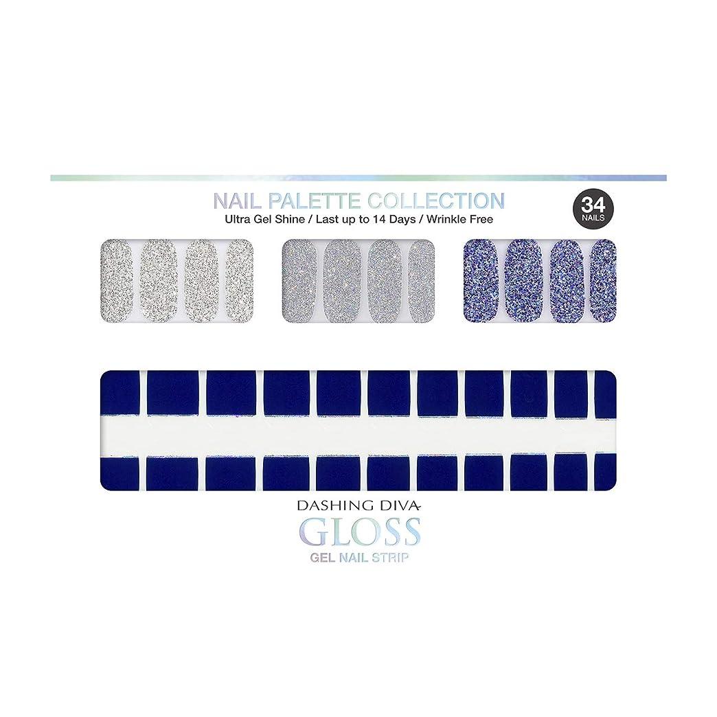 ドメイン形式ブルームダッシングディバ グロスジェル ネイルストリップ DASHING DIVA Gloss Gel Nail Strip DGNP12-DURY+ オリジナルジェル ネイルシール Ice #12 Deep River