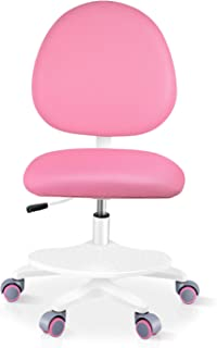 Bamny Chaise de Bureau pour Enfant, Chaise Pivotante Enfant avec Rouleaux de Poids, Rotation à 360°, Dossier et Hauteur Ré...