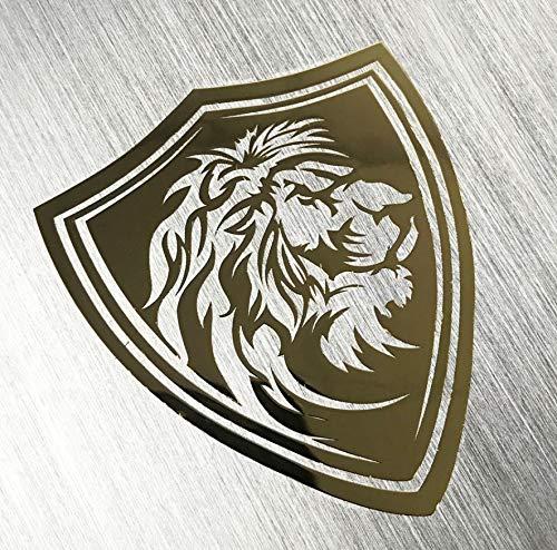 ZJJHX Metall Nickel VIP Lion Mythos Cool Emblem Metall Aufkleber DecalsVerband Spielzeug Für Laptop Notebook Aufkleber 10 Stücke