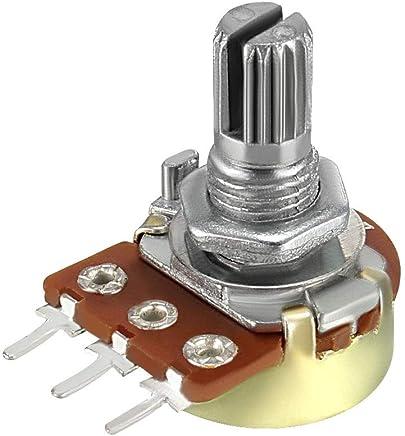 uxcell WH148 可变电阻器单转旋转碳膜锥度电压计 20K-1pcs a18072600ux0023