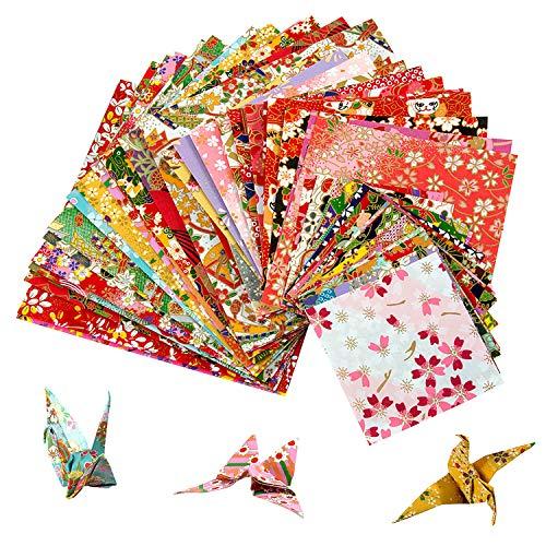 Origami Papier Set - MOOKLIN ROAM 60 Blatt Unterschiedliche Muster papier Japanisches Papier 3 Größen DIY Handwerk Origami-Papier für Origami und Bastelprojekte for Kinder und Erwachsene,Random Color