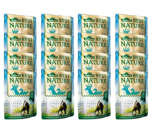Comida para Gatos Dehner Best Nature Adulto, Wild y Pato con Pasta, en Bolsa, 16 x 85 g (1,36 kg)