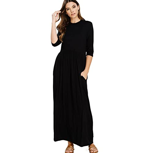 Black Maxi Dress With Sleeves Amazon