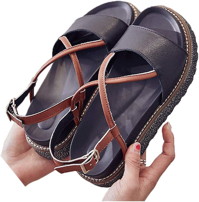 DBQWTY Ladies Flat-Soled Fashion Sandals Classic Fashion Hollow Toe Sandals