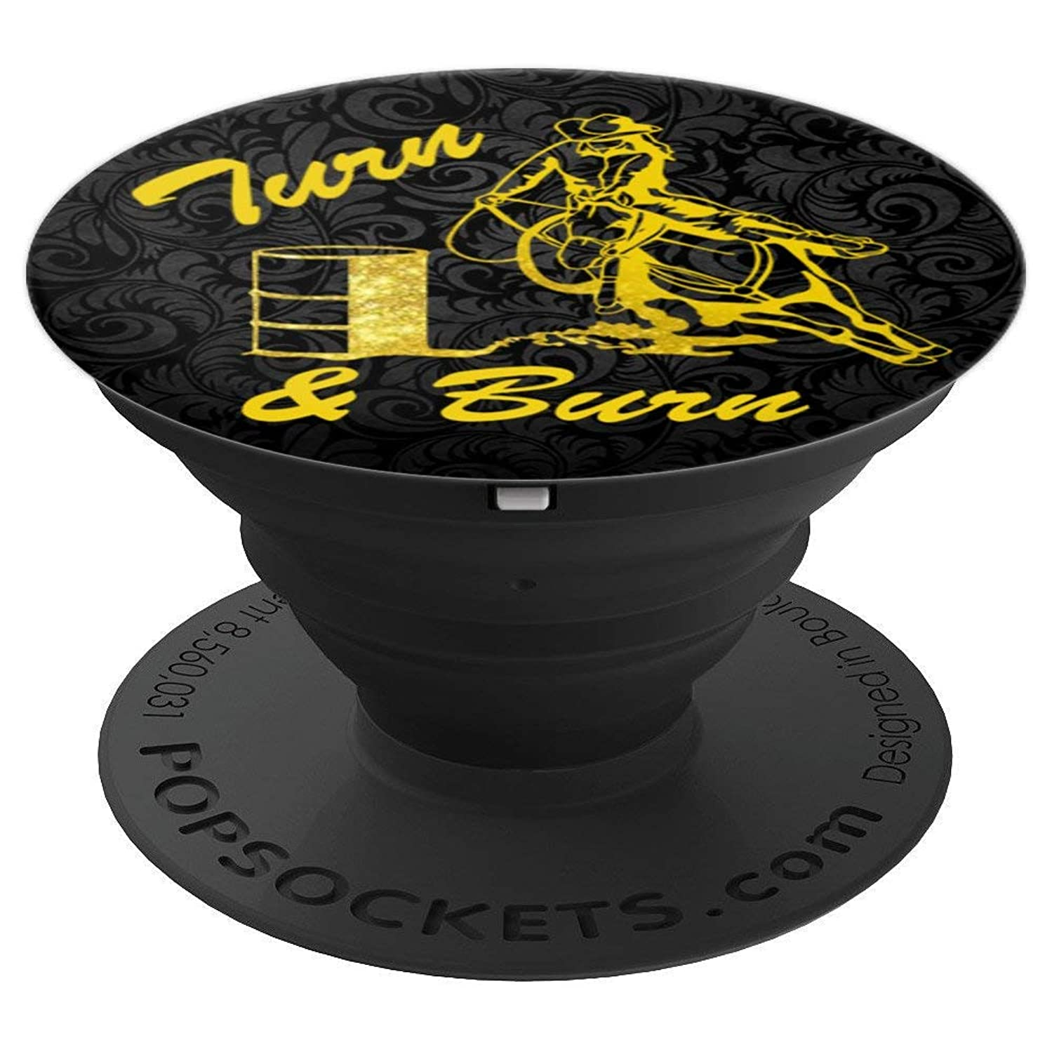barrel Racing Turn N Burn Horse Race rodeo - PopSockets Grip and Stand for Phones and Tablets
