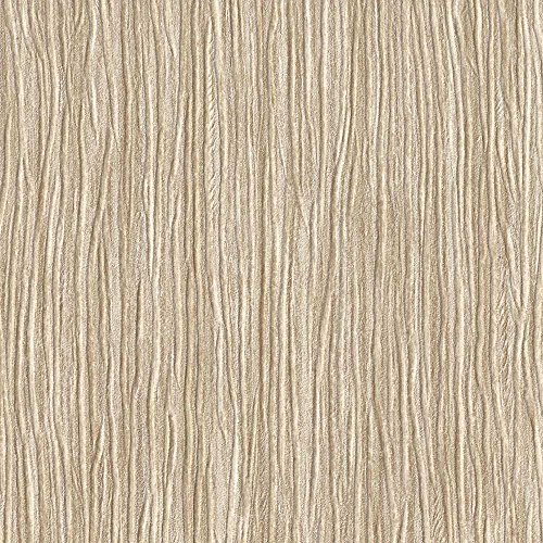 Forest Forest Tan Embossed Textured Wallpaper for Walls - Double Roll - by Romosa Wallcoverings