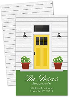 Front Door Personalized Moving Announcement - Yellow