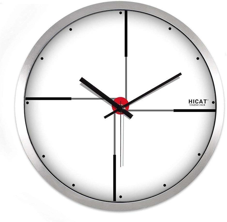 precios ultra bajos BAOBAO 12 pulgadas pulgadas pulgadas 14 cm Reloj de Parojo Creativo Europeo salón de Moda casa Metal Arte Minimalista Moderno Mute Reloj de Parojo Cuarzo (Borde de Color Dinegro Tamaño  14 Pulgadas)  promocionales de incentivo