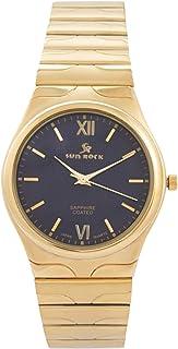 صن روك ساعة رسمية للرجال - انالوج بعقارب، ستانلس ستيل - SRG114