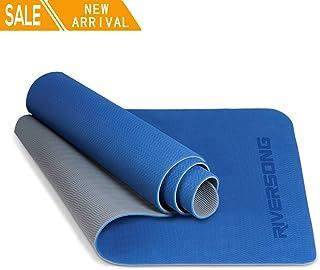 naranja, Disponible en tres colores: azul maletero con bolsa de transporte Eco compatible tama/ño extra de 183/x 61 Gimnasio TPE de alta calidad, Pilates grosor de 6/mm para Yoga Alfombra Yoga JAS Namaste Alfombrilla Doble capa