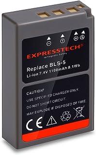 Expresstech @ Reemplazo batería BLS-5 BLS5 1100mah para Olympus OM-D E-M10 Pen E-PL2 E-PL5 E-PL6 E-PM2 Stylus 1 E-M10 Mark II D EM10 EP3 EPL1 EPL2 EPL3 EPL5 EPL6 EPL7 EPM1 EPM2