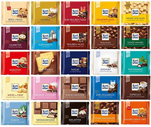 Ritter Sport - All-in-One-Paket - 25x100g