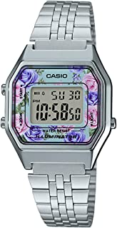 Casio Women's Grey Dial Stainless Steel Band Watch - La680Wa-2Cdf, For Unisex