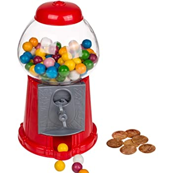 Kicko 8.5 Inch Gumball Machine - Classic Candy Dispenser - Perfect for Birthdays, Kiddie Parties, Christmas, Novelties, Kitchen Buffet, Party Favor and Supplies