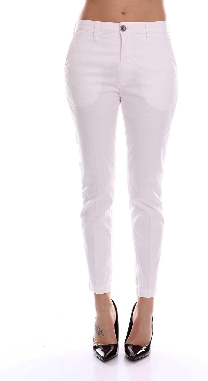 Barba Women's 8411WHITE White Cotton Pants