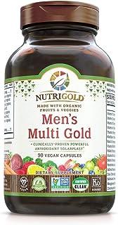 Organic Multivitamin for Men, Men's Multi Gold, 90 Capsules, Plant-Based Whole Food Multivitamin Without Iron, Non-GMO, Ve...
