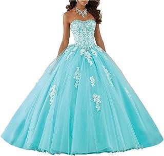 Lace piso de longitud vestido de baile Quinceanera vestido