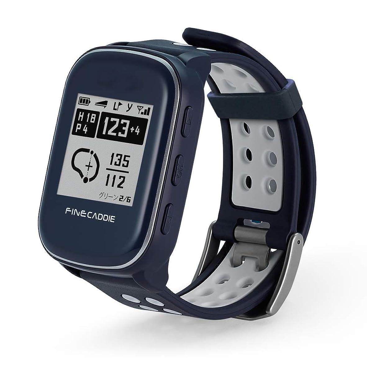 月曜日出費情緒的【19年新モデル】ゴルフナビ ゴルフGPS 腕時計型 距離測定器 高低差?コースデータ自動更新?超軽量38g ファインキャディ(FineCaddie) M500アルファ