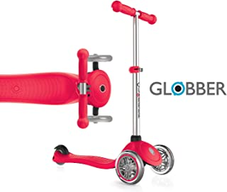 Globber V2 3-Wheel 3 Adjustable Height Scooter Zero Assembly Patented Steering Lock Great for Kids & Toddlers Girls or Boys Reinforced Body Supports Up to 110lbs