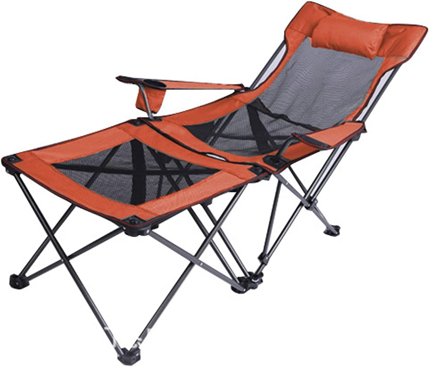WSCQ Camping Chair with Sacramento Mall Footrest Cup Mesh Max 90% OFF Chairs Outdoor H