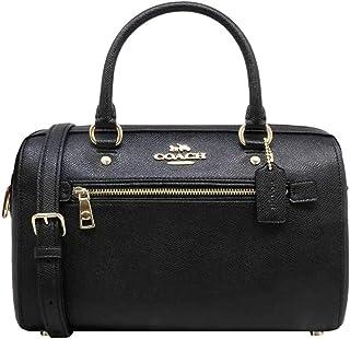 حقيبة كوتش روان من الجلد بلون أسود