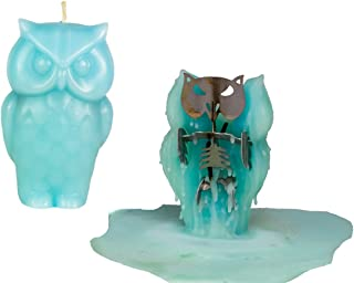 Skeleton Candles Owl Candle – Unscented Blue