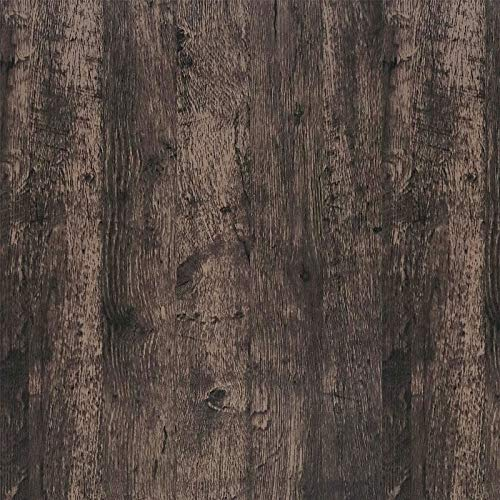 CiCiwind Pellicola adesiva in legno marrone scuro quercia autoadesiva da parete in legno naturale per mobili effetto legno per camera da letto armadio parete cucina tavolo vinile 45cmx300cm