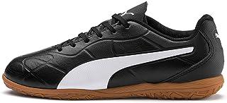 Puma Unisex-Child Monarch It Jr Black White Football Shoes