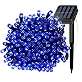 Solar Powered Fairy LED String Lights 200 LEDs 66ft Waterproof IP65 Outdoor Indoor Decorative Twinkle Rope Lighting for...
