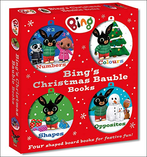 Bing's Christmas Bauble Books: Four colourful decorations to hang on your tree – the perfect Christmas gift