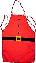 TRIXES Father Christmas Novelty Apron Santa Suit Design Gift Idea for Fun Festive Fancy Dress