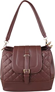 GM CREATIONS™ Leatherette Formal Casual Travel Shoulder Sling Side Handbag With Double-handle Detachable strap For Women &...