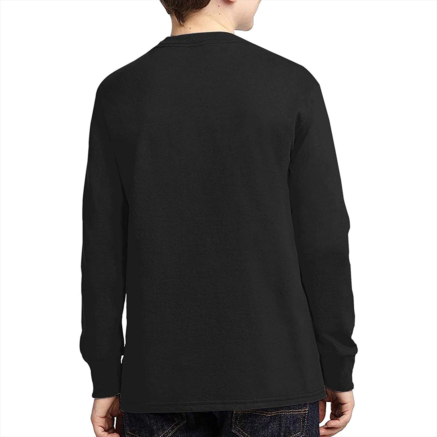Teens Boys' Cotton 3D Printed Comfty Round Neck Long Sleeve T-Shirts Anime Graphic Tees Shirt Top