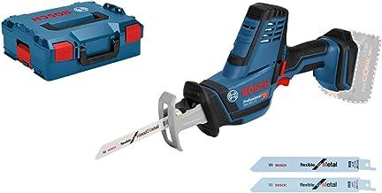 Bosch Professional 18V System Akku Säbelsäge GSA 18V-LI C inkl. 3x Säbelsägeblatt, ohne Akkus und Ladegerät, in L-BOXX 136