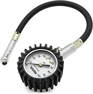 TireTek Flexi-Pro Tire Pressure Gauge Heavy Duty - Best for Car & Motorcycle 0-100 PSI