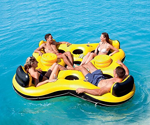 Bestway Rapid Rider X4 Inflatable 4-Person Floating Island Seat by Bestway...