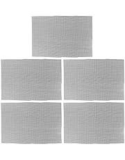 Yardwe 5ピース植木鉢メッシュパッド換気プランター底ガスケット防食植物ポット長方形黒グリッドスクリーン用ガーデンホーム30×10センチ