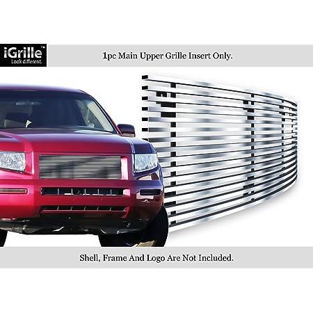 APS Compatible with 2005-2008 Honda Ridgeline Black Bumper Stainless Steel Billet Grille Insert S18-J61178H