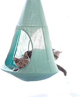 cat hammock hanging from ceiling