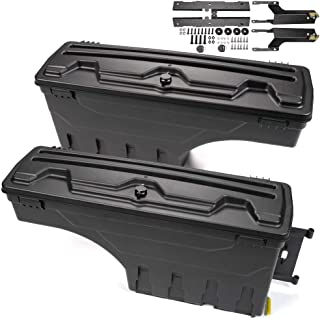 G-PLUS for Ford F150 F-150 2015 2016 2017 2018 2019 Lockable Storage Boxes Case Truck Bed Tool Box Driver & Passenger Side 1 Pair