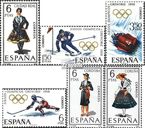 Espagne mer.-no.: 1734,1735-1737,1738,1739 (complète.Edition.) 1968 Costumes, Olympe. Jeux d'hiver (Timbres pour Les collectionneurs) Sports d'hiver