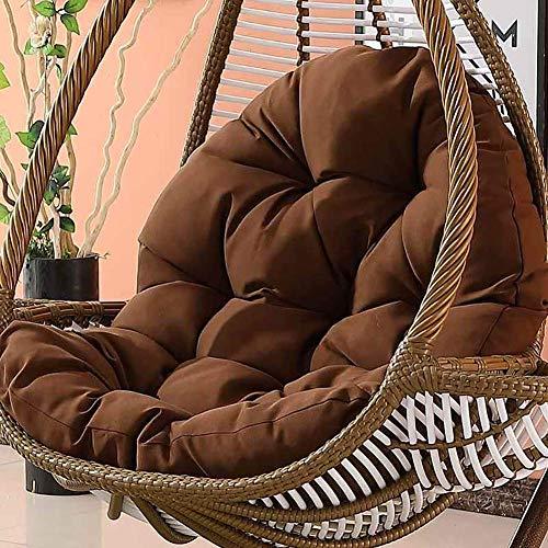 DIELUNY Asiento para silla colgante, almohadillas antideslizantes para silla, canastilla de mimbre para adultos, cojín de interior para balcón, cojín suave para interior de 120 x 86 x 15 cm