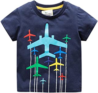 Toddler Little Boys Chromatic Airplane Tees Shirts Tops