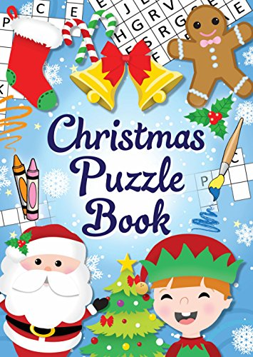 Christmas Book Henbrandt 12 Mini Christmas Puzzle Activity Books A6 - Girl or Boys Party Bag Fillers