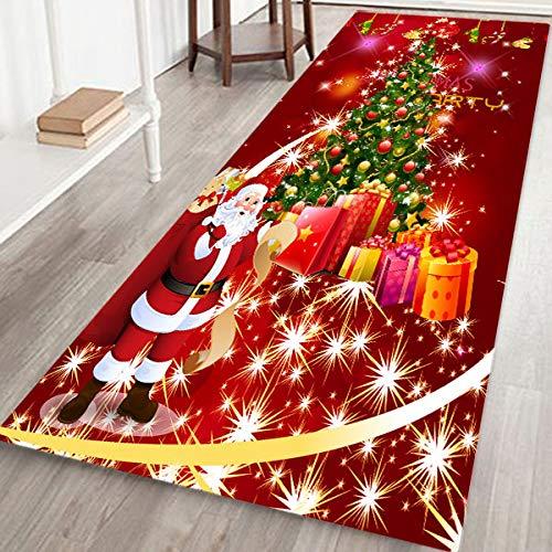 coofo Weihnachts-Bodenmatte, lang, rutschfest, für Küche, Bad und Schlafzimmer, Weihnachtsbaum, 40 x 120 cm