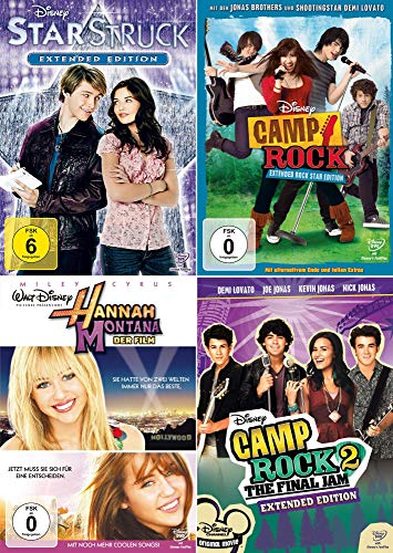 Camp Rock 1 + 2 + Starstruck + Hanna Montana - Der Film (Teenager 4er Set)