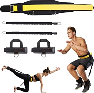 SAIVEN Vertical Jump Trainer Leg Strength Resistance Bands Set, Bounce Trainer for Basketball Football Taekwondo Yoga Boxi...